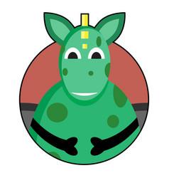 dragon icon avatar vector image