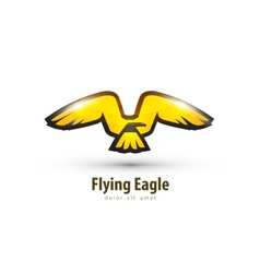 eagle logo design template bird or animal icon vector image