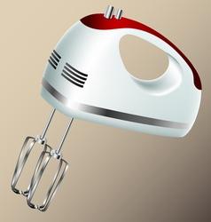 Kitchen hand mixer vector image vector image