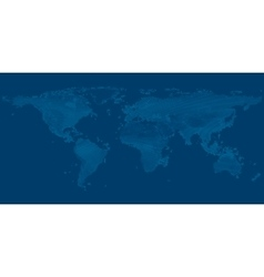 map of the world on dark blue background vector image