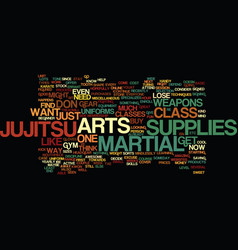 Martial arts supplies text background word cloud vector