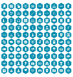 100 hacking icons sapphirine violet vector