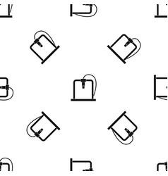 3d printer frame pattern seamless black vector image