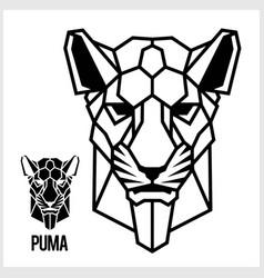 abstract linear polygonal head a puma vector image