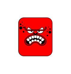 Anger red face icon evil worker angry red boss vector