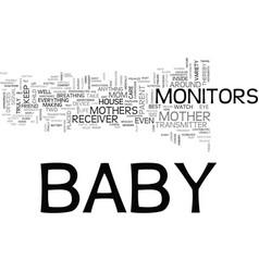 baby monitors moms best friend text word cloud vector image