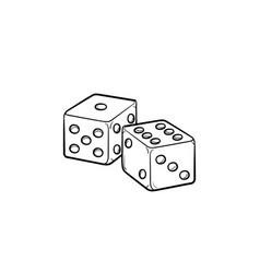 Backgammon hand drawn sketch icon vector