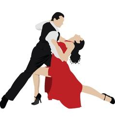 ballroom dancing vector image