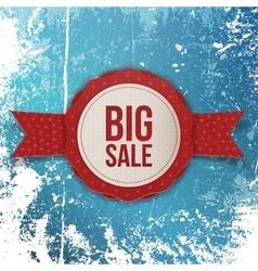 Big Sale Christmas realistic red Emblem vector image