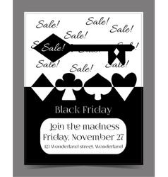 Black Friday Sale in Wonderland Banner Card vector
