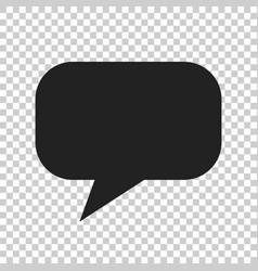 Blank empty speech bubble icon in flat style vector