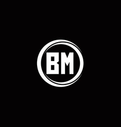 Bm logo initial letter monogram with circle slice vector