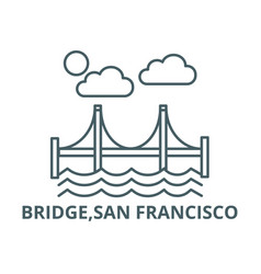 bridgesan francisco line icon bridgesan vector image