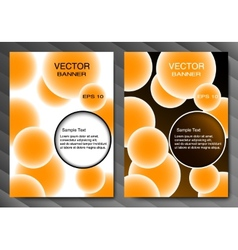 Brochure template or banner Orange balls and vector image