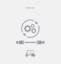 Cable connection settings icon vector