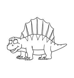 cartoon dimetrodon cute little badinosaur vector image