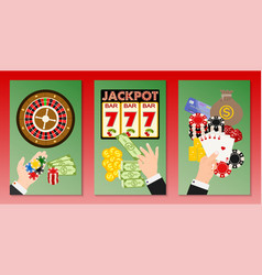 casino concept set banners vector image