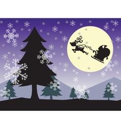 christmas wallpaper color vector image