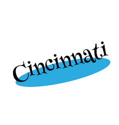 Cincinnati rubber stamp vector