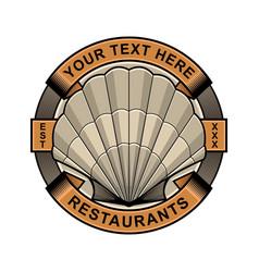 Clam restaurant logo vector