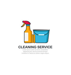 cleaning service logo template vector image
