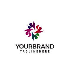 community people logo design concept template vector image