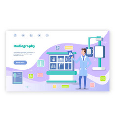 Concept landing page medical website vector