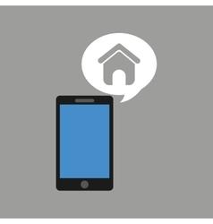 Concept social media hand holding smartphone web vector