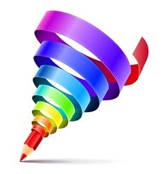 creative art pencil design vector image