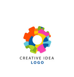 creative idea geometric logo template with vector image