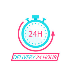 delivery 24 hour stopwatch background image vector image
