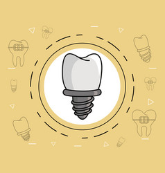 Dental implant care vector