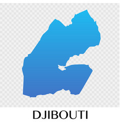 Djibouti map in africa continent design vector