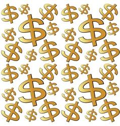 Dollar sign seamless vector image
