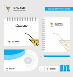 drink logo calendar template cd cover diary and vector image