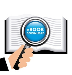 ebook concept design vector image