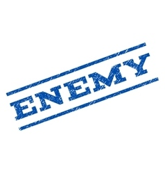 Enemy watermark stamp vector