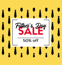 Fathers day sale discount template vector