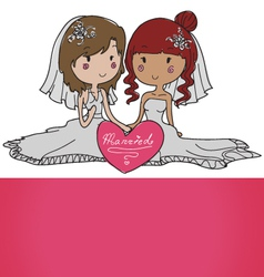 female gay couple vector image