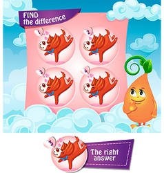 Find the difference hearts vector