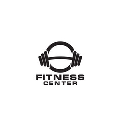 Fitness dumbbell logo icon design element template vector