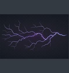 Flash lightning thunderstorm on a black vector