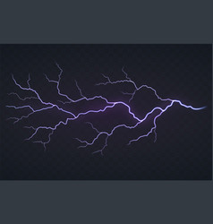 flash of lightning thunderstorm on a black vector image