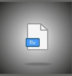 Flv icon flv format symbol flv sign vector