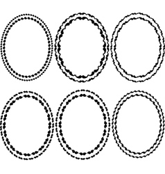 frames oval vector image
