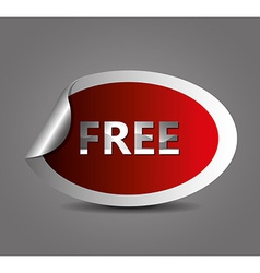 Free label design vector image