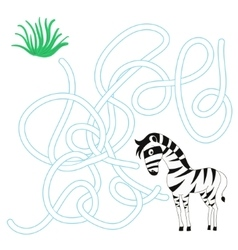 Game labyrinth find a way zebra vector