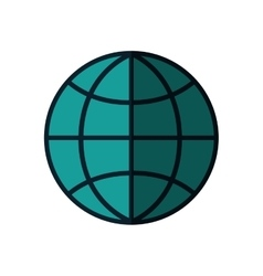 Global sphere isolated icon vector
