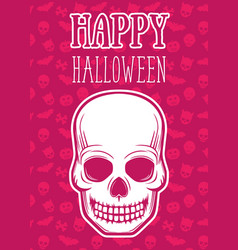 halloween poster with skull vector image