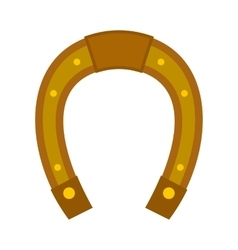 Horseshoe icon flat vector